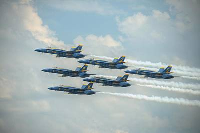 Photograph - Blue Angels Delta Pass by Jeff Cook