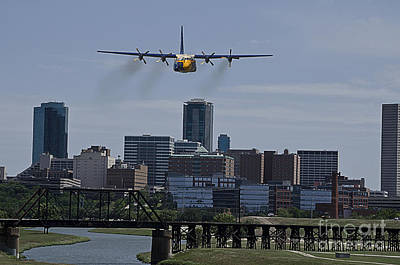 Angel Photograph - Blue Angels Fat Albert by Hilton Barlow
