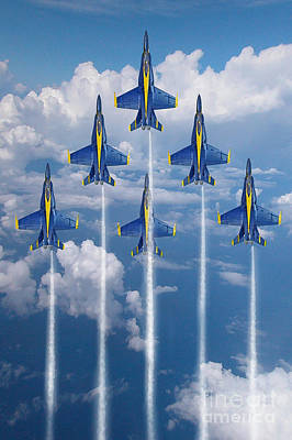 Angels Digital Art - Blue Angels by J Biggadike