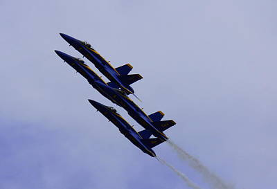 Photograph - Blue Angels by Laurie Perry