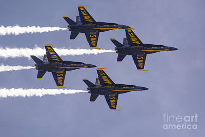 Photograph - Blue Angels Left To Right Diamond by Tim Mulina