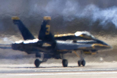 Photograph - Blue Angels Number 3 On The Runway by Jim Moss