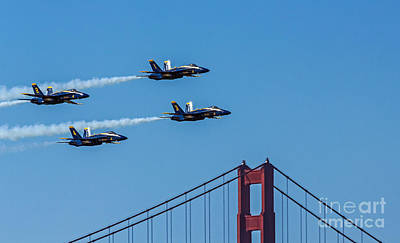 Photograph - Blue Angels Over The Golden Gate by Kate Brown