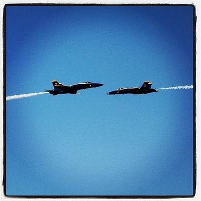Jet Photograph - blue Angels Playing by Tyler Schuh