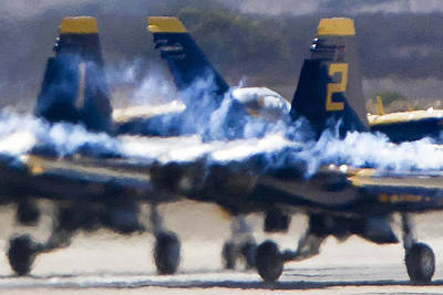 Photograph - Blue Angels Ready For Takeoff by Jim Moss