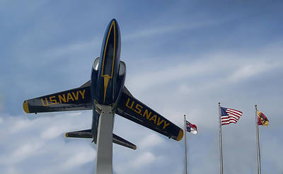 Art Print featuring the photograph Blue Angels Tribute by Victor Montgomery