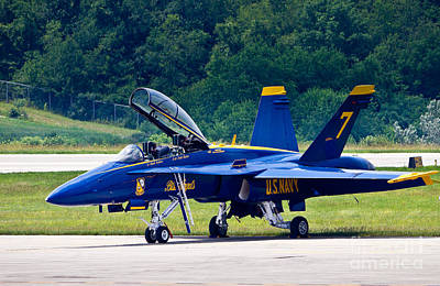 Photograph - Blue Angels - Waiting To Go by John Waclo