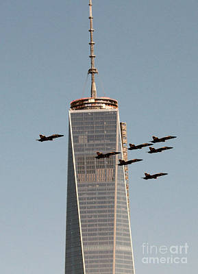 Photograph - Blue Angels Wtc Fly-over by Steven Spak