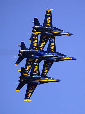 Flight Formation Photograph - Blue Angels II by Bill Gallagher