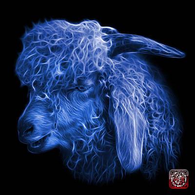 Digital Art - Blue Angora Goat - 0073 F by James Ahn