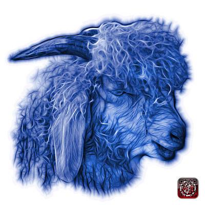 Digital Art - Blue Angora Goat - 0073 Fs by James Ahn
