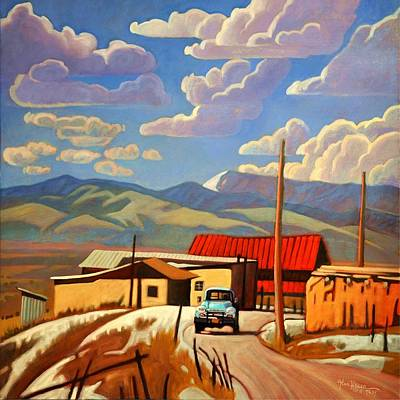 Taos Painting - Blue Apache by Art James West