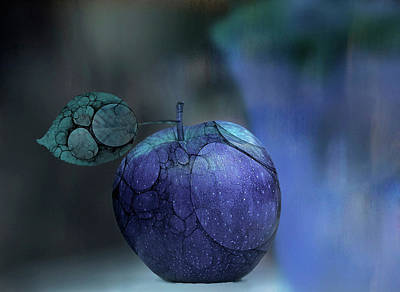 Apple Wall Art - Photograph - blue Apple  by Natalia Baras