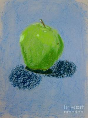 Blue Apple Art Print by Christopher Murphy
