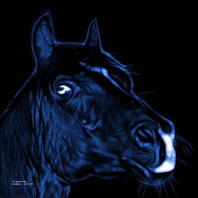 Animal Lover Digital Art - Blue Arabian Horse - 1341 Fs  by James Ahn