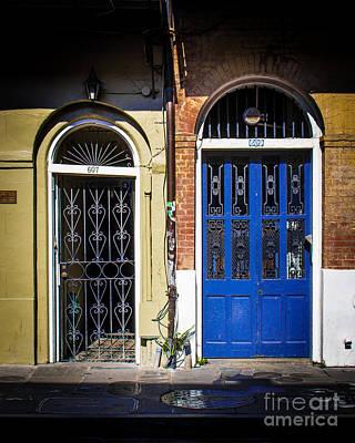 French Door Digital Art - Blue Arch Door by Perry Webster