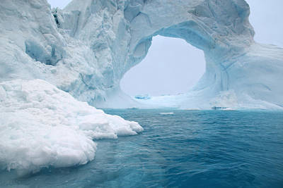 Photograph - Blue Arch Iceberg by Ginny Barklow