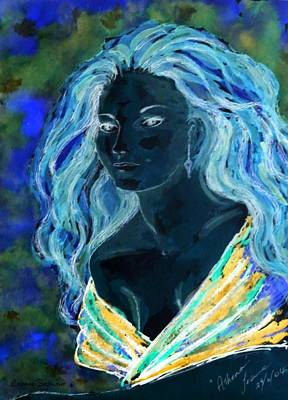 Mixed Media - Blue Artemis by Leanne Seymour