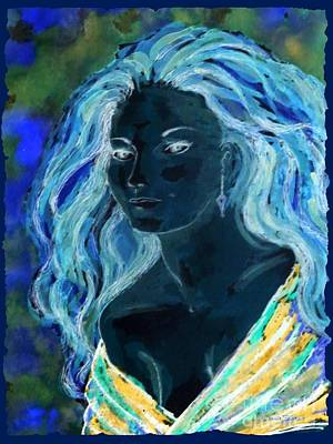 Painting - Blue Artemis - Within Border by Leanne Seymour