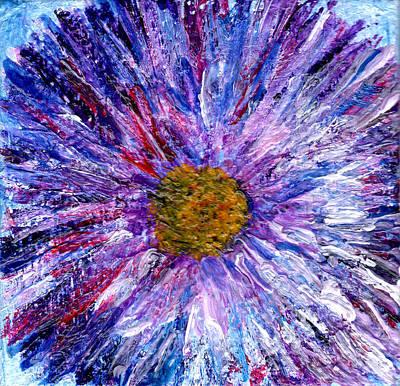 Painting - Blue Aster Miniature Painting by Regina Valluzzi