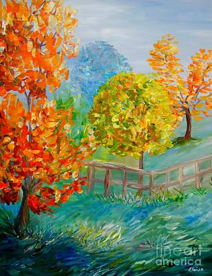 Painting - Blue Autumn by Eloise Schneider