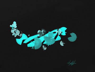Blue Autumn Twist Art Print