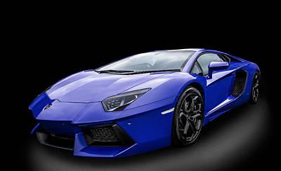 Blue Aventador Art Print