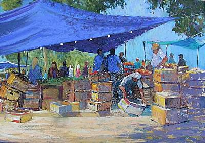 Painting - Blue Awnings by Jackie Simmonds
