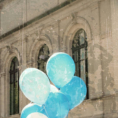 Balloons Photograph - Blue Balloons by Brooke T Ryan