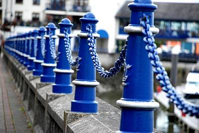 Photograph - Blue Balusters by Charlie and Norma Brock