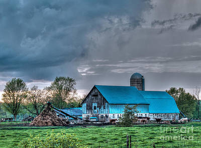 Photograph - Blue Barn by Bianca Nadeau