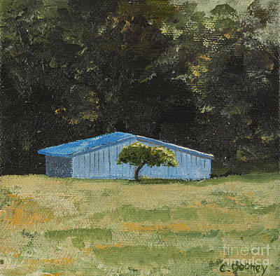 Painting - Blue Barn by Carla Dabney