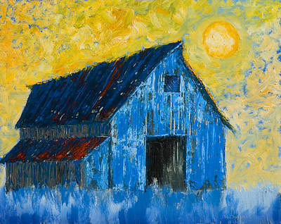 Painting - Blue Barn Number One by Jerry McElroy