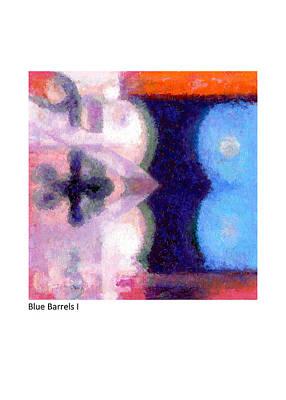 Pastel - Blue Barrels I by Betsy Derrick