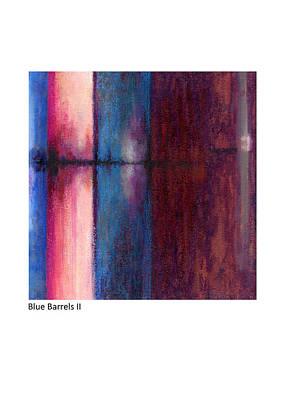 Pastel - Blue Barrels II by Betsy Derrick