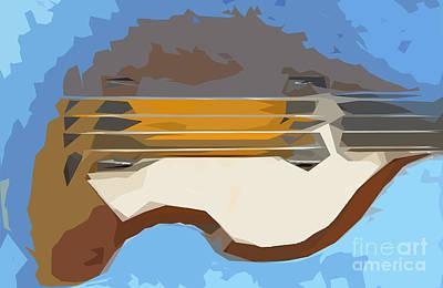 Bass Digital Art - Blue Bass 4 by Pablo Franchi