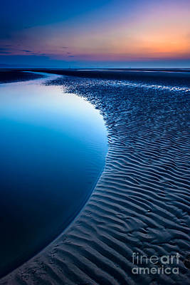 Blue Beach  Art Print by Adrian Evans