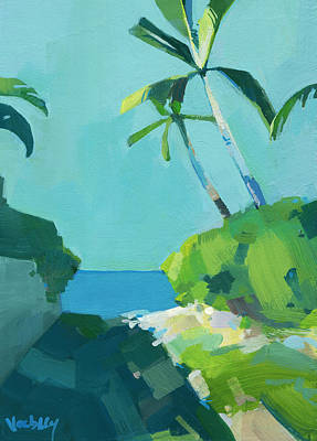 Haleiwa Painting - Blue Beach Path by Stacy Vosberg