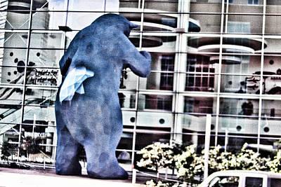 Digital Art - Blue Bear by Audreen Gieger