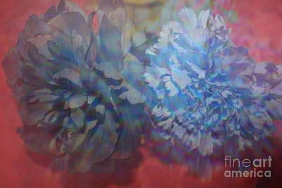 Blue Beauties - Impressionistic Flowers Original