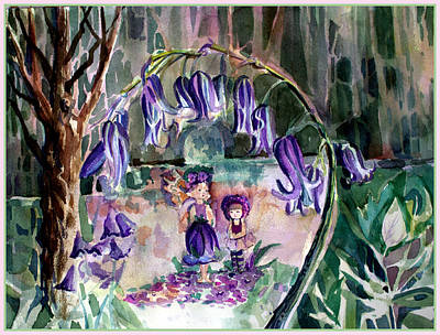 Sprite Drawing - Blue Bell Woods by Mindy Newman