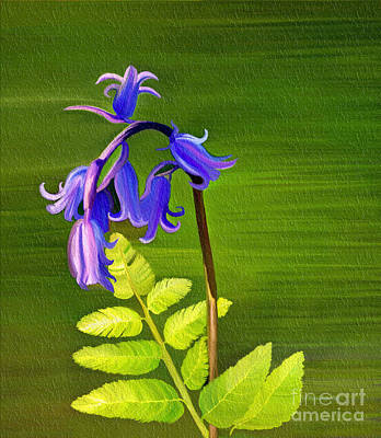 Mixed Media - Blue Bells by Patricia Griffin Brett
