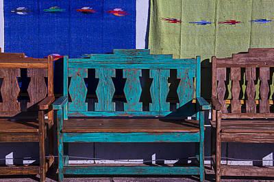 Blue Bench Art Print by Garry Gay