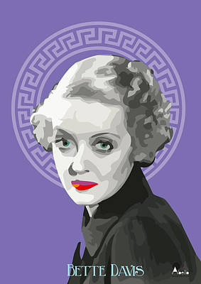 Drawn Portrait Drawing - Bette Davis Drawing by Quim Abella