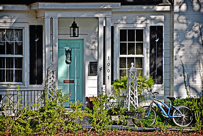 Photograph - Blue Bicycle by Linda Brown