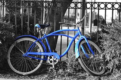 Blue Bike Art Print