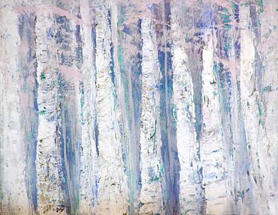 Painting - Blue Birches by Davina Nicholas