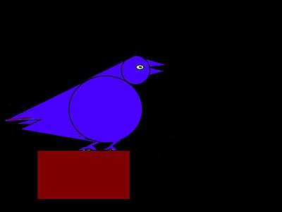 Life Study . Ganesha Digital Art - Blue Bird by Anand Swaroop Manchiraju
