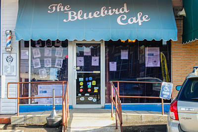Photograph - The Bluebird Cafe by Robert Hebert