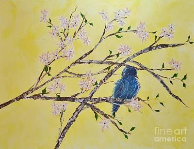 Blue Bird In Spring Original